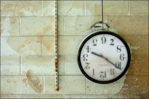 upside down clock
